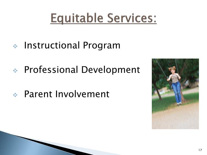 Equitable Services: