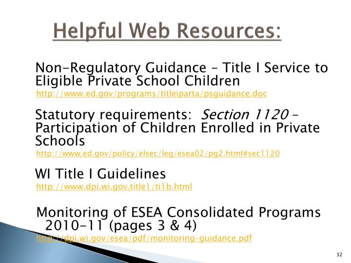 Helpful Web Resources: