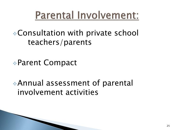 Parental Involvement: