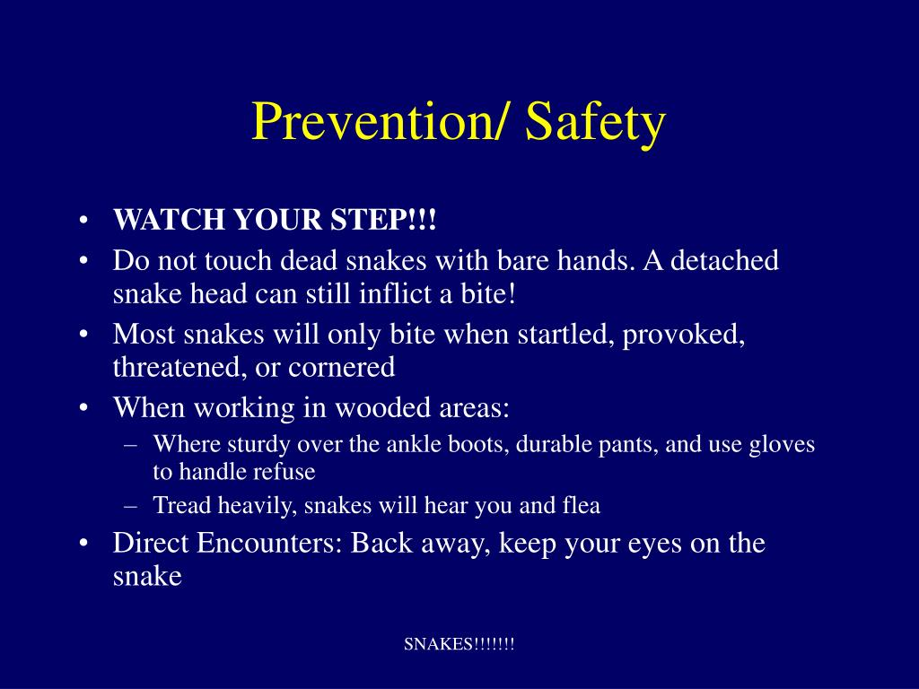 Prevention/ Safety