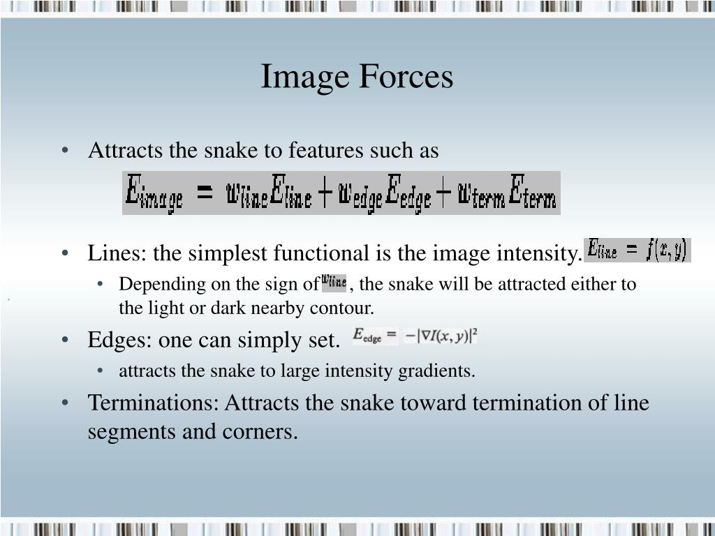 Image Forces