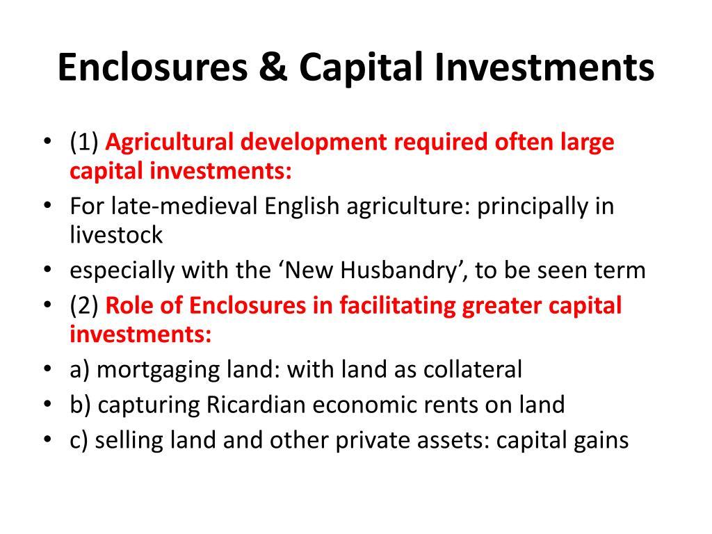 Enclosures & Capital Investments