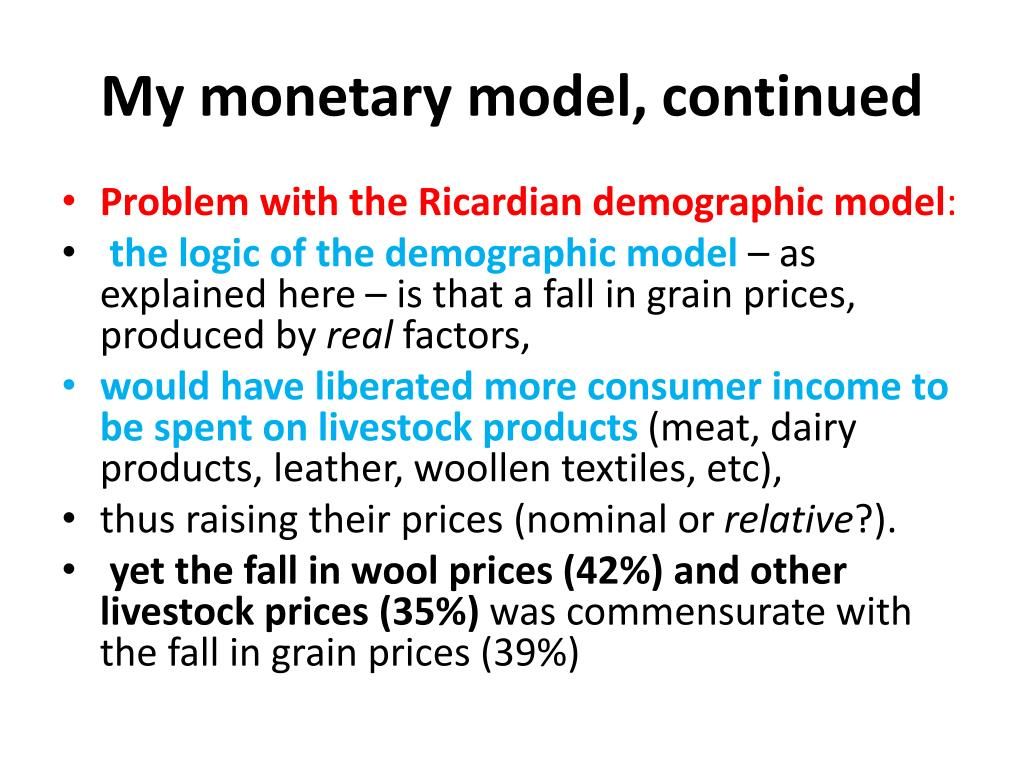 My monetary model, continued