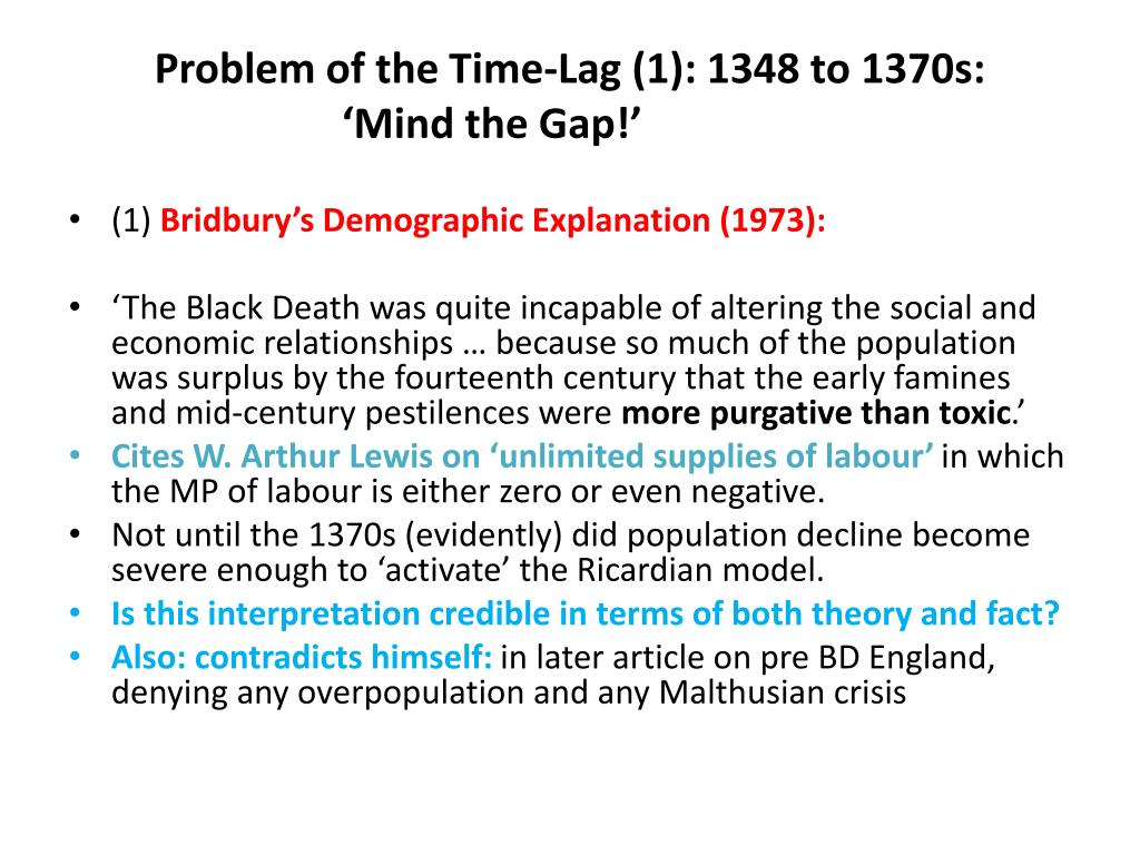 Problem of the Time-Lag (1): 1348 to 1370s: