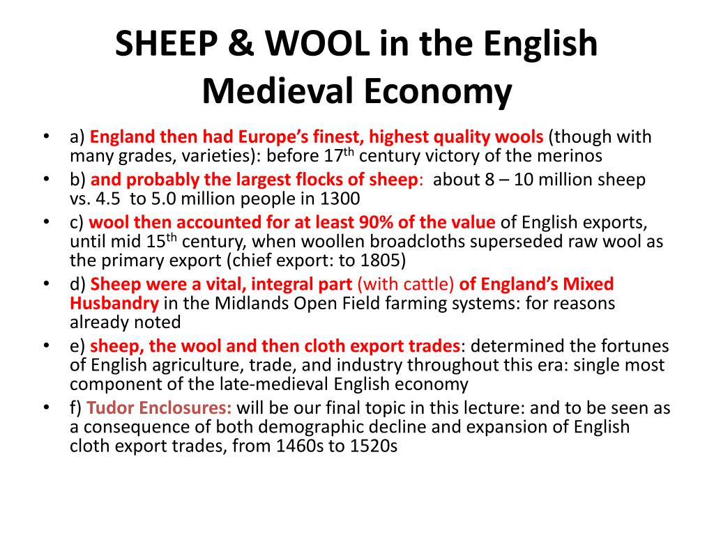 SHEEP & WOOL in the English Medieval Economy
