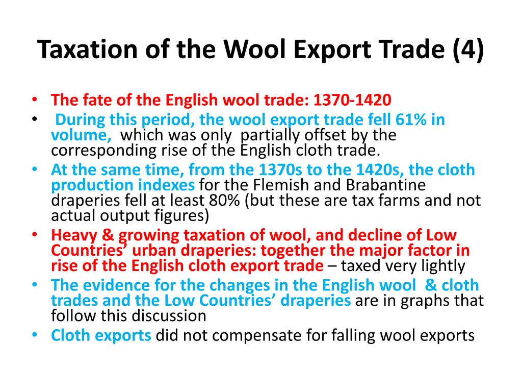 Taxation of the Wool Export Trade (4)