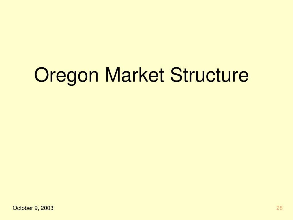 Oregon Market Structure