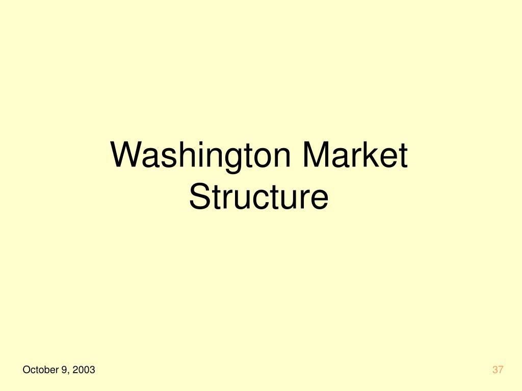 Washington Market Structure