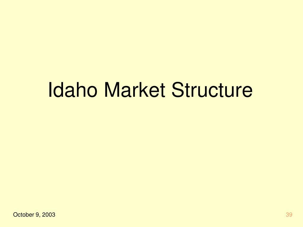 Idaho Market Structure