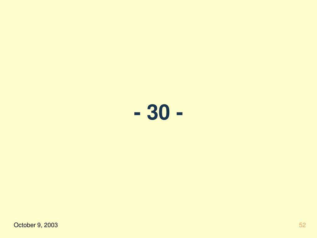 - 30 -