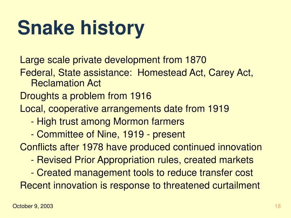 Snake history