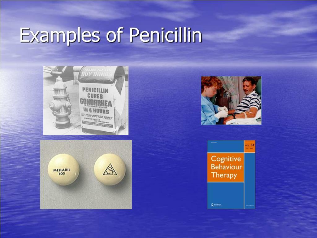 Examples of Penicillin