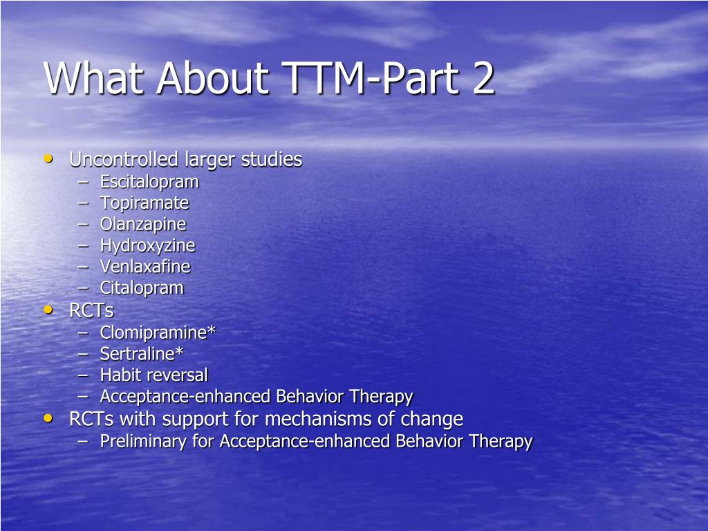 What About TTM-Part 2