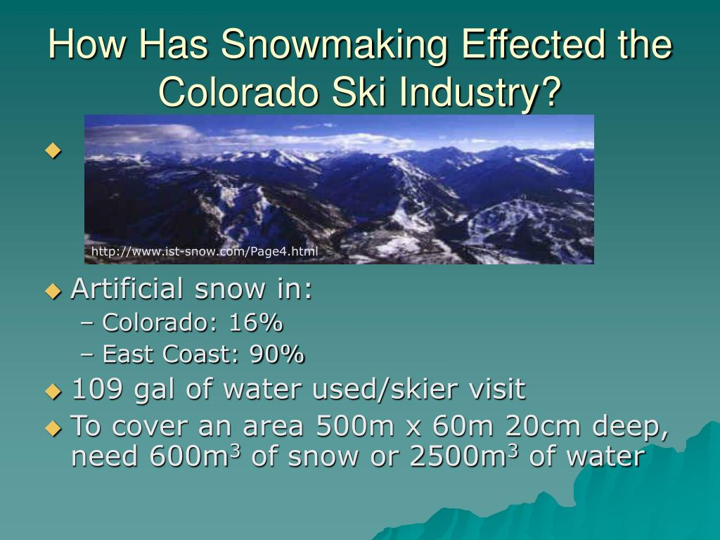 How Has Snowmaking Effected the Colorado Ski Industry?