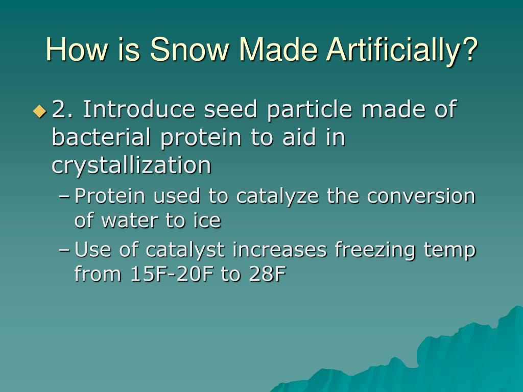 How is Snow Made Artificially?