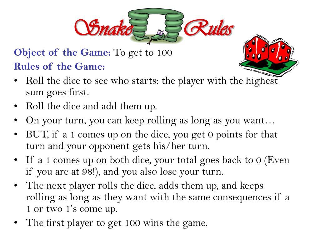 Snake         Rules
