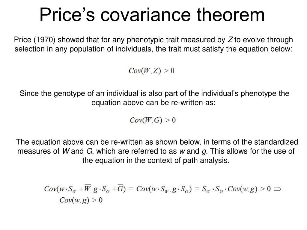 Price's covariance theorem