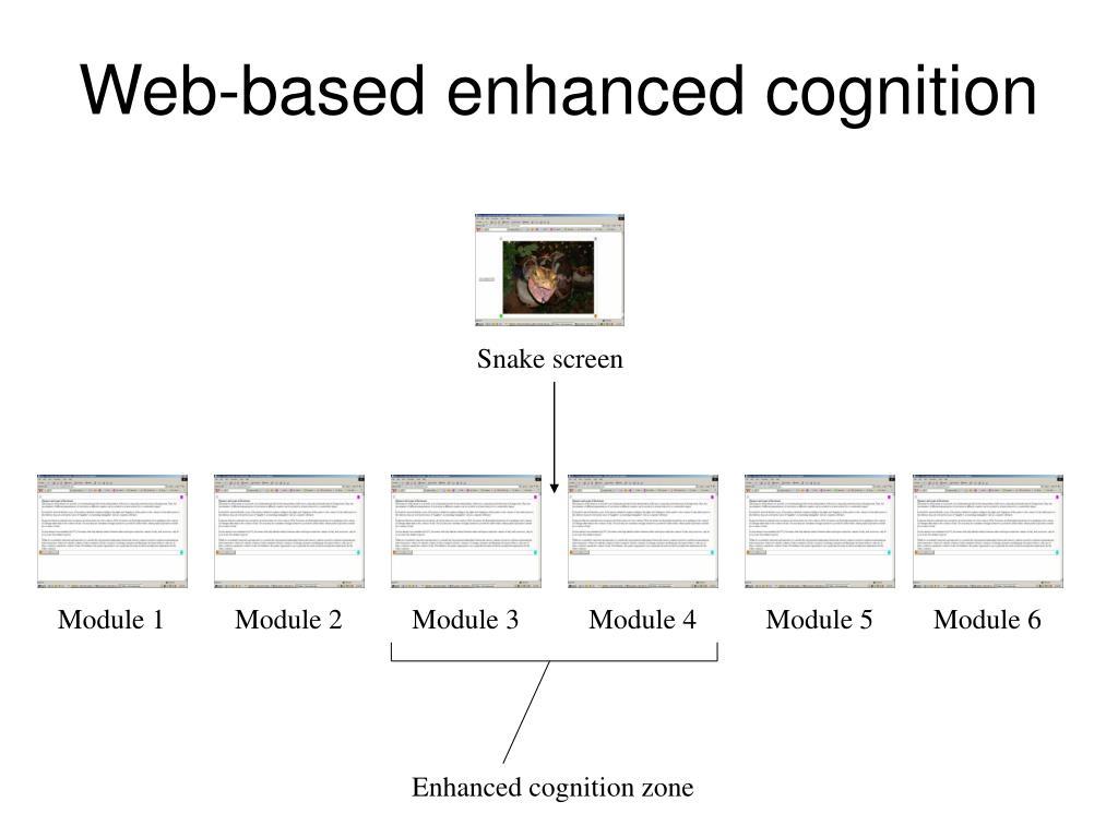 Web-based enhanced cognition