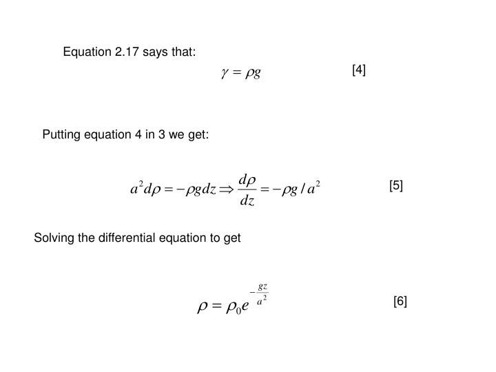 Equation 2.17 says that: