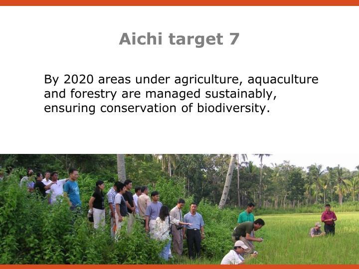Aichi target 7