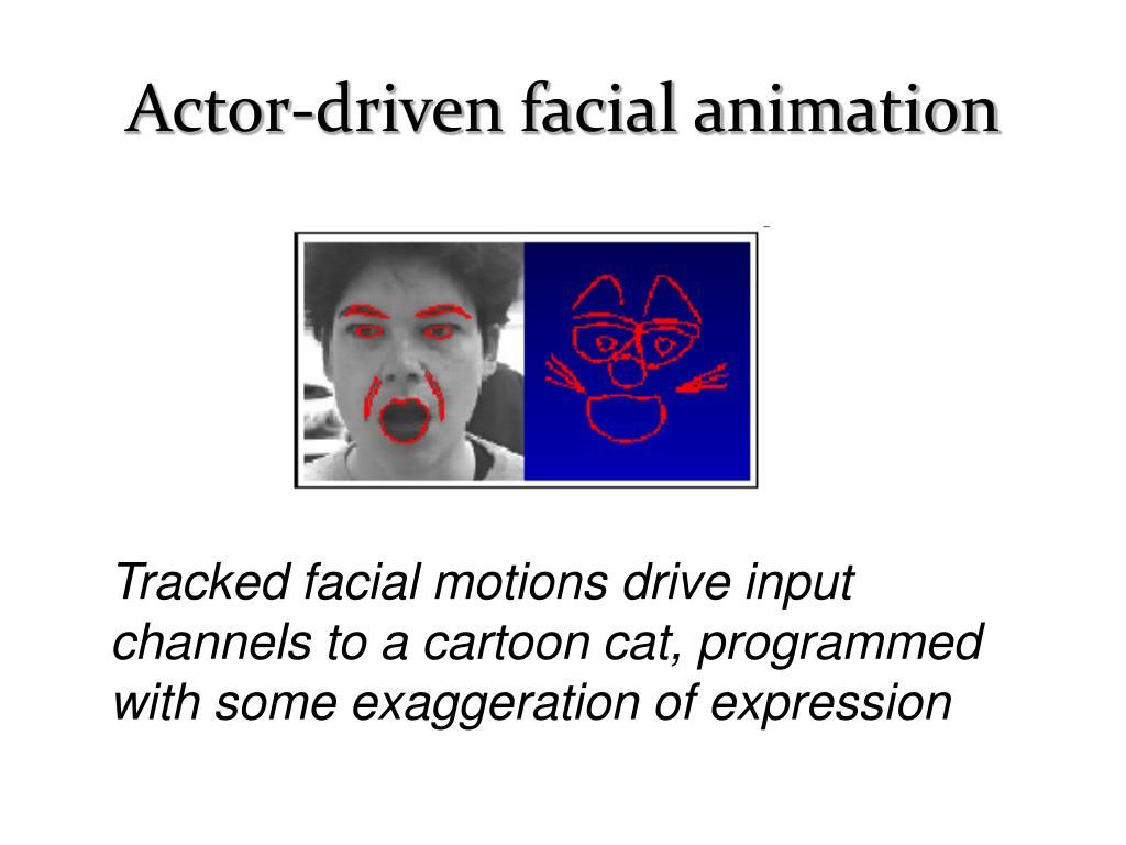 Actor-driven facial animation