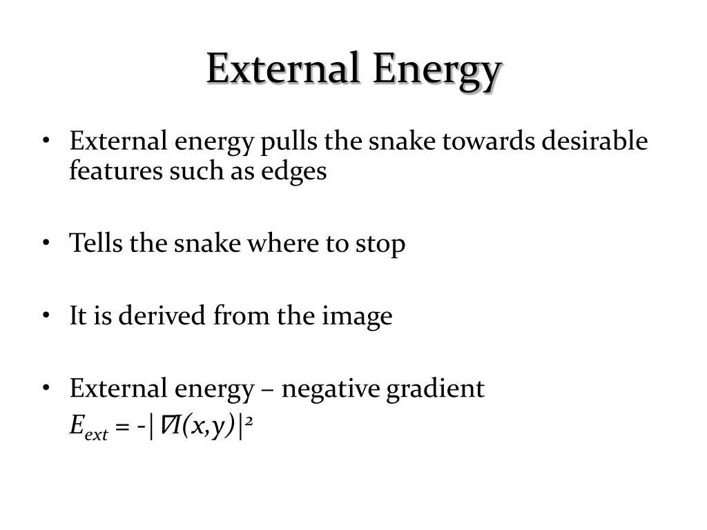 External Energy