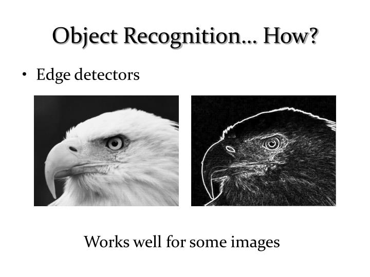 Object recognition how