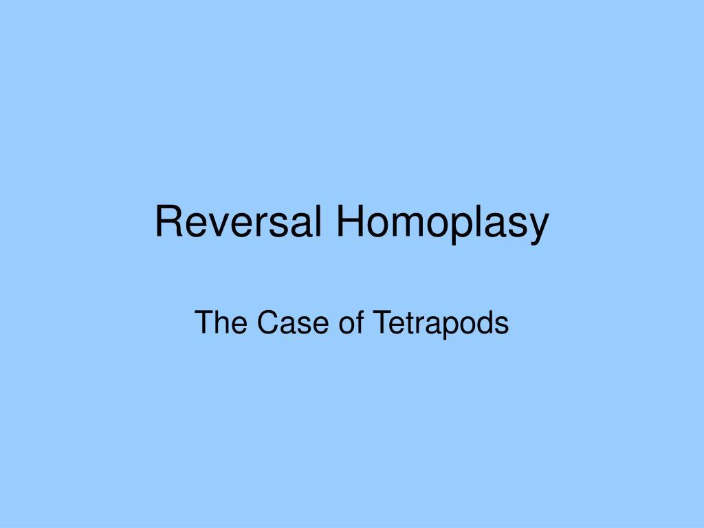 Reversal Homoplasy