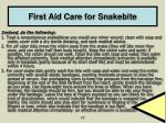 first aid care for snakebite17