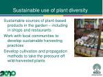 sustainable use of plant diversity1