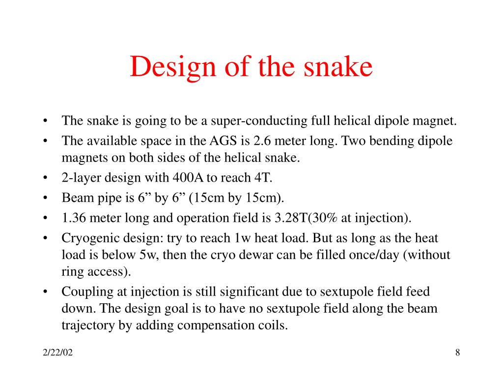 Design of the snake