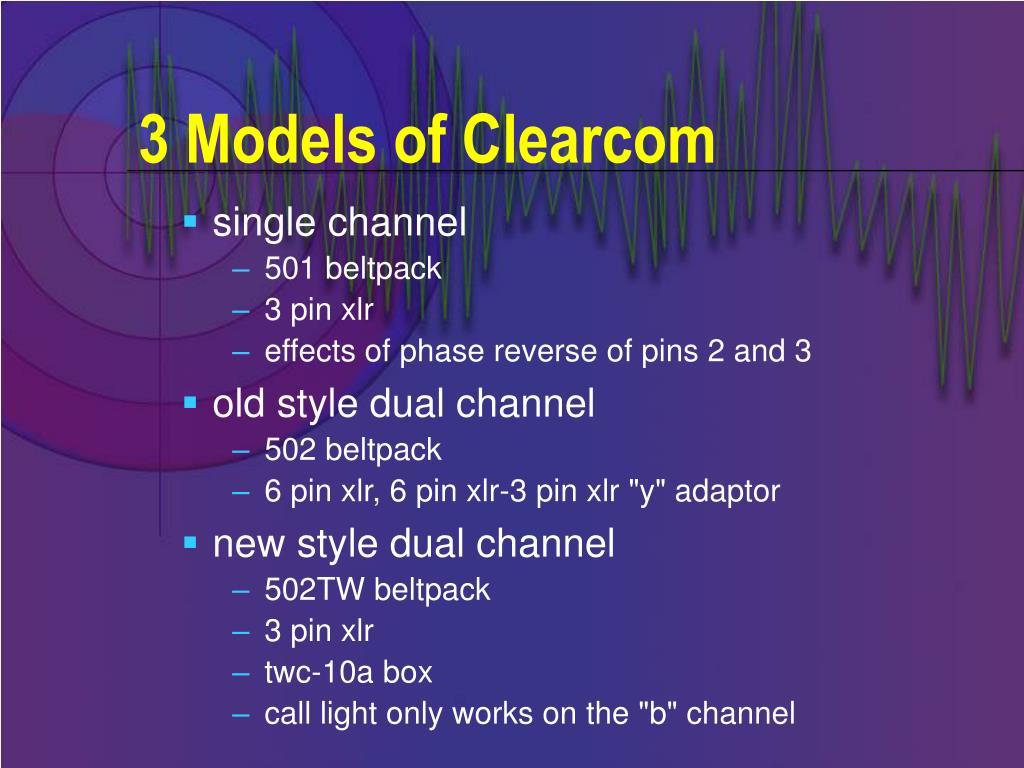 3 Models of Clearcom
