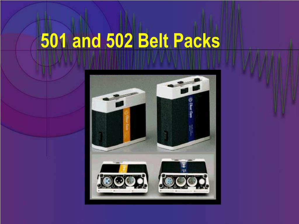 501 and 502 Belt Packs