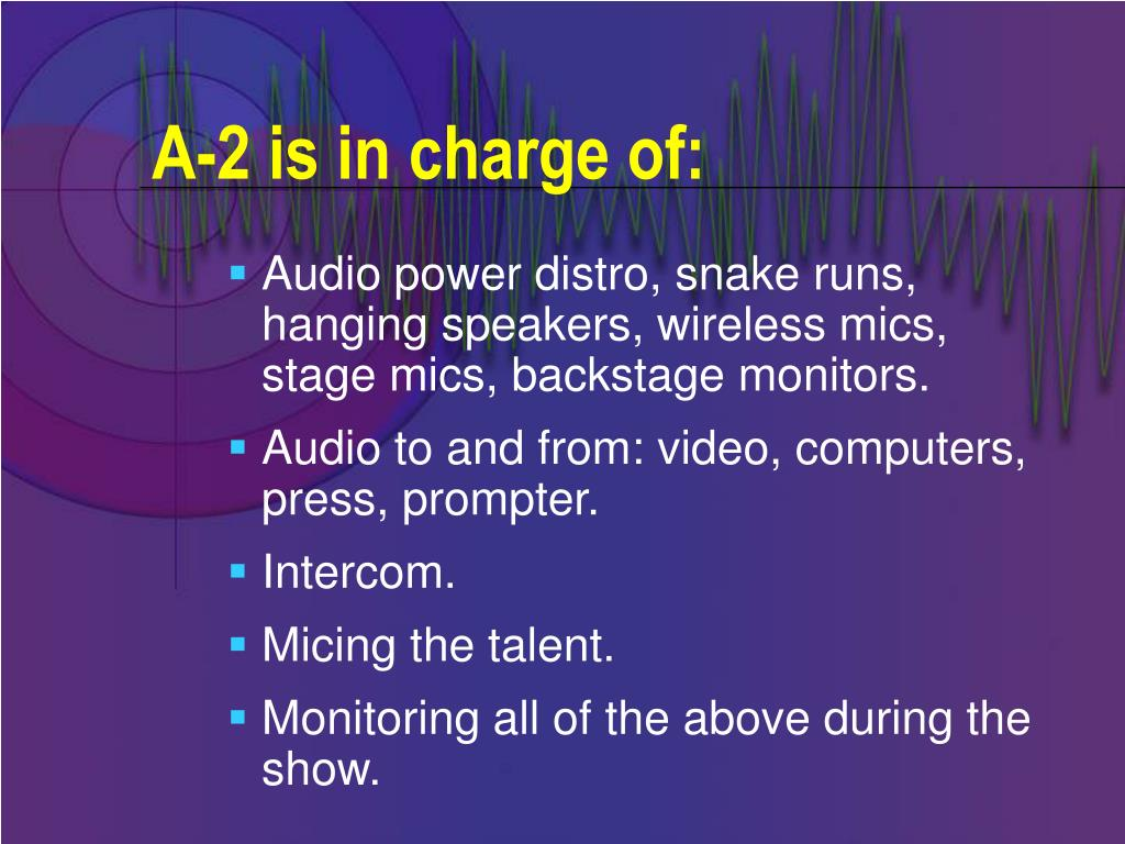 A-2 is in charge of: