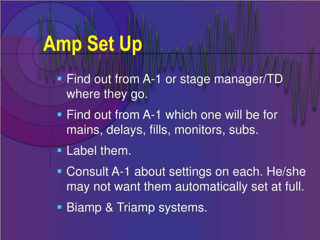 Amp Set Up