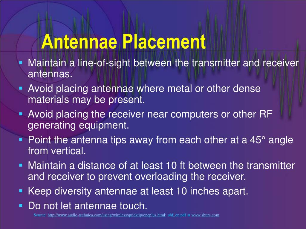 Antennae Placement