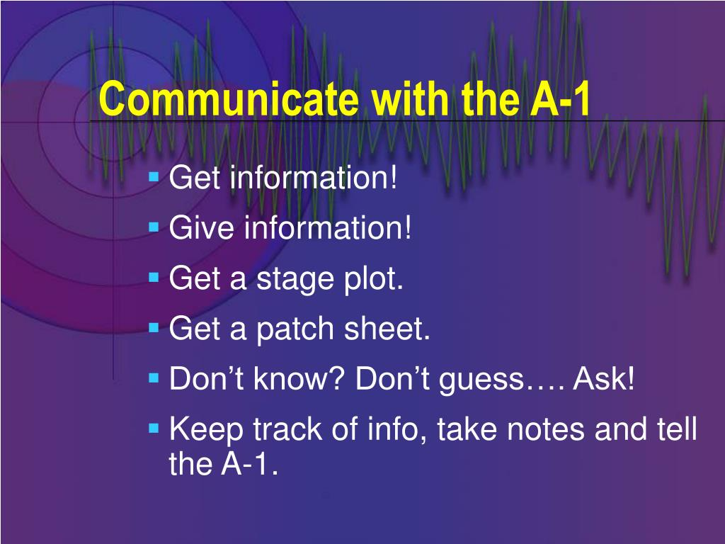 Communicate with the A-1