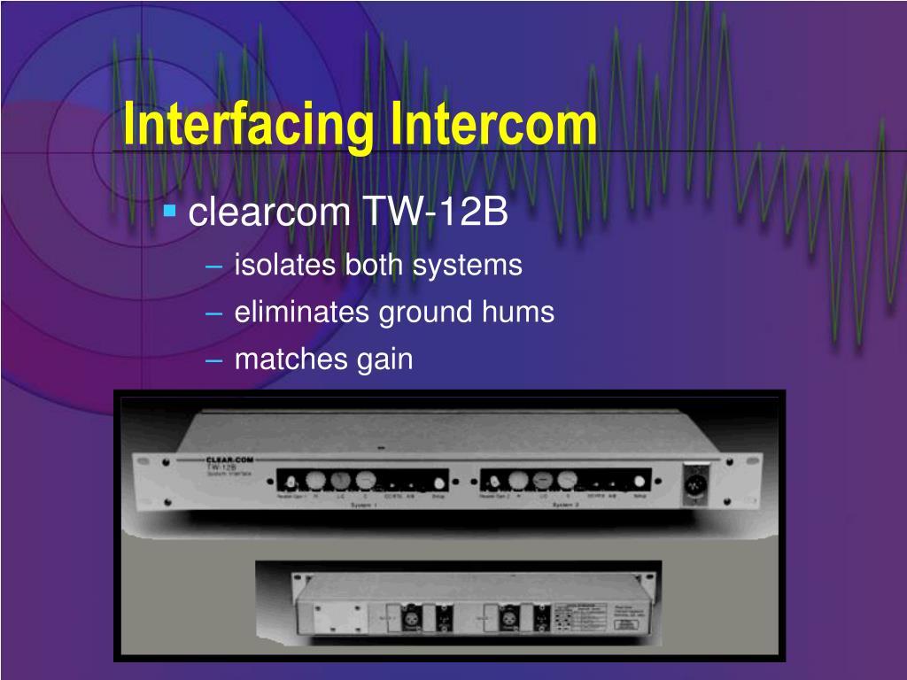 Interfacing Intercom