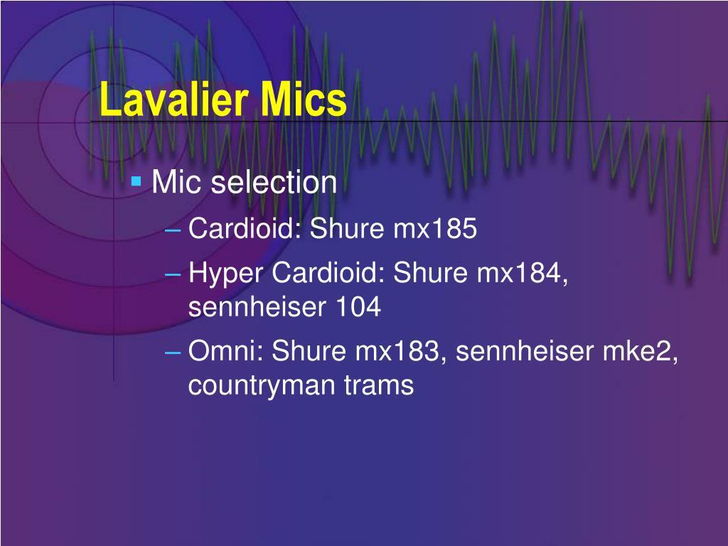 Lavalier Mics