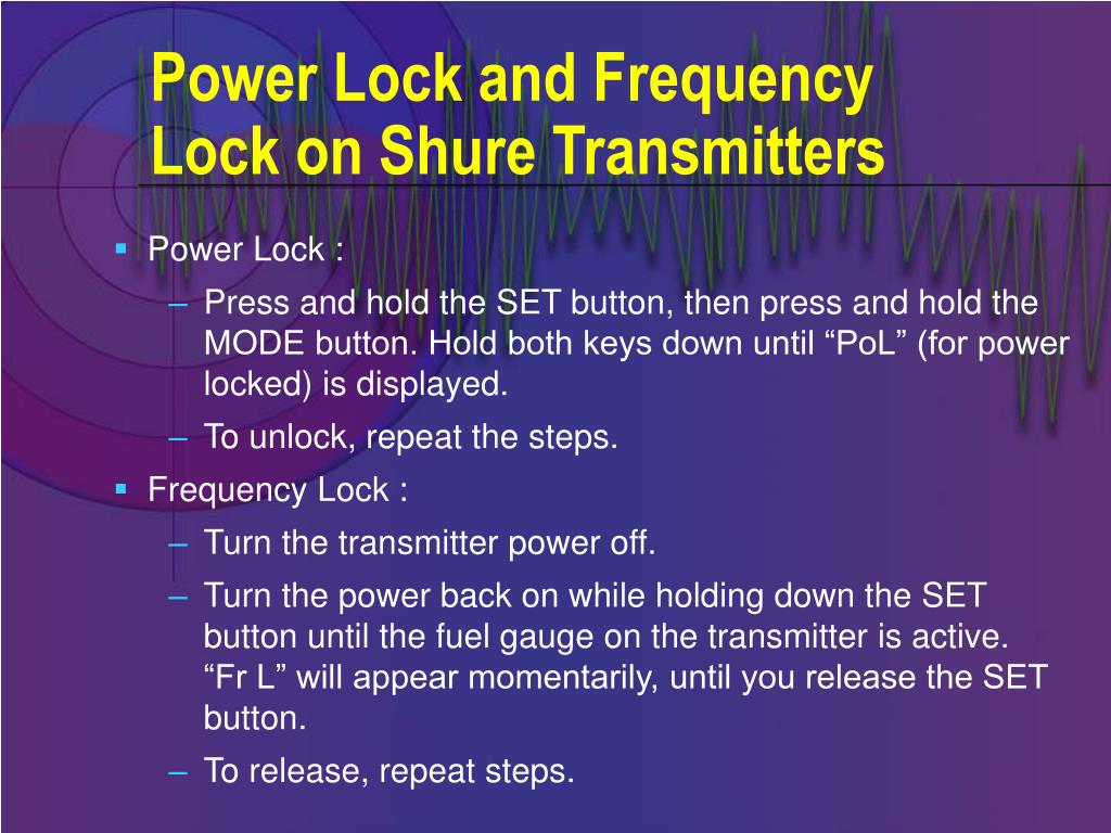 Power Lock and Frequency