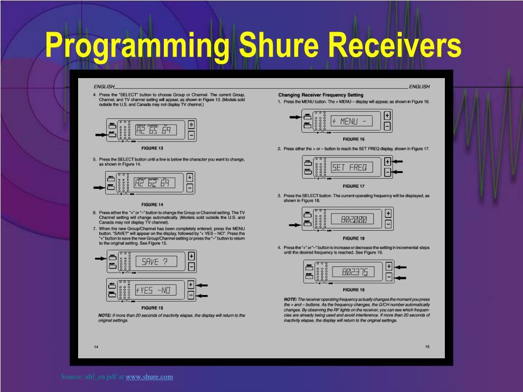 Programming Shure Receivers