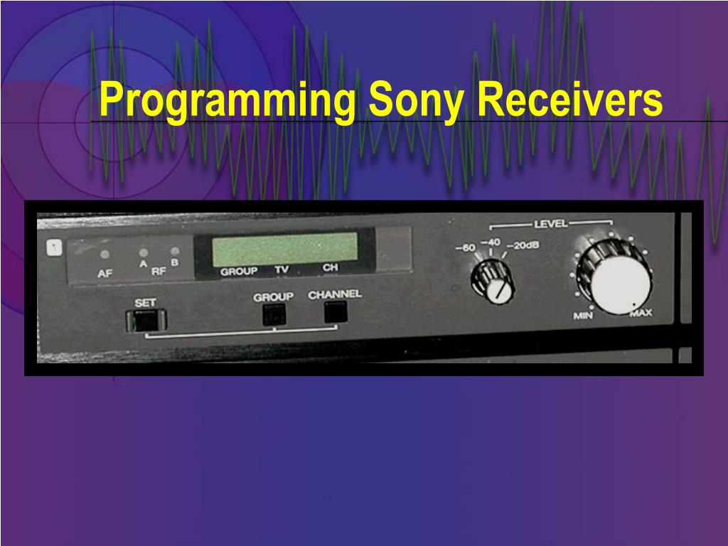 Programming Sony Receivers