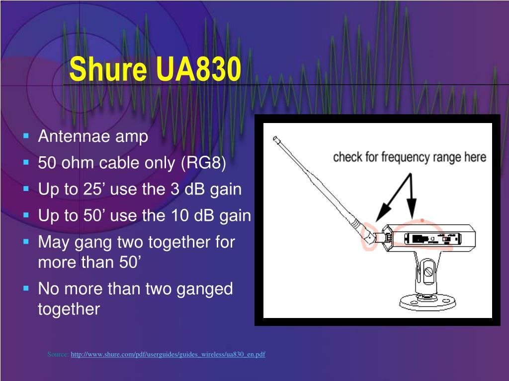 Shure UA830