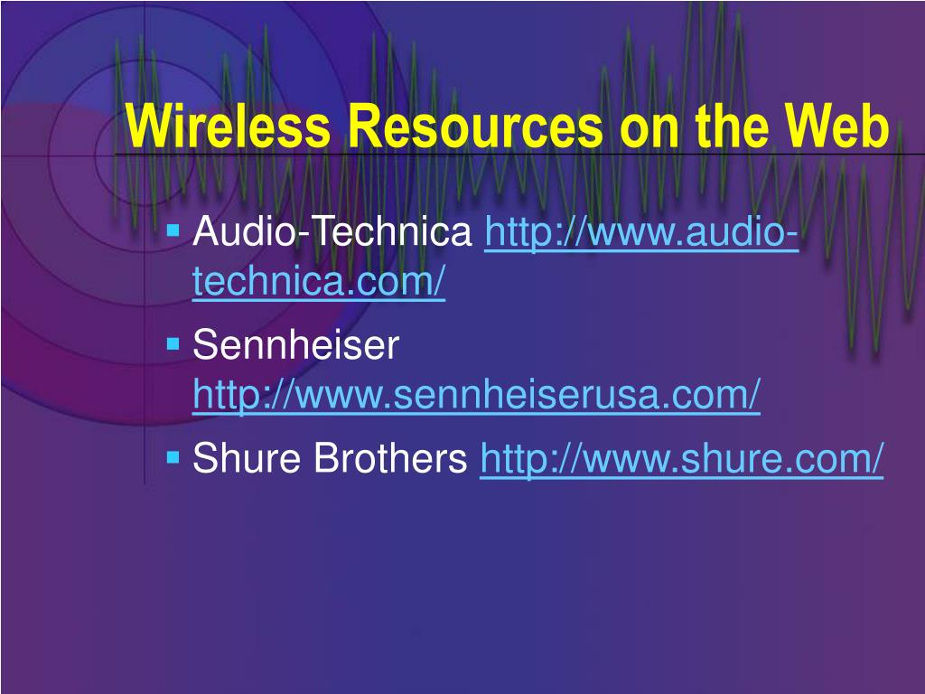Wireless Resources on the Web