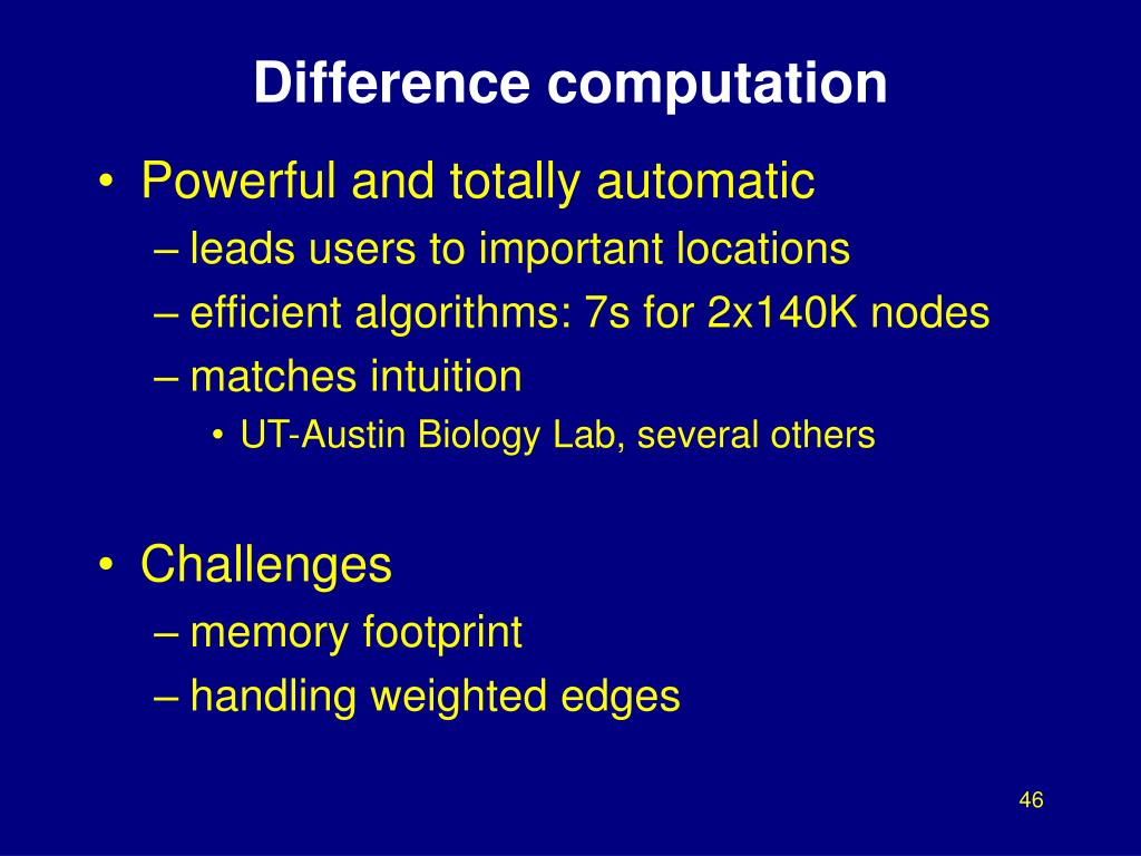 Difference computation