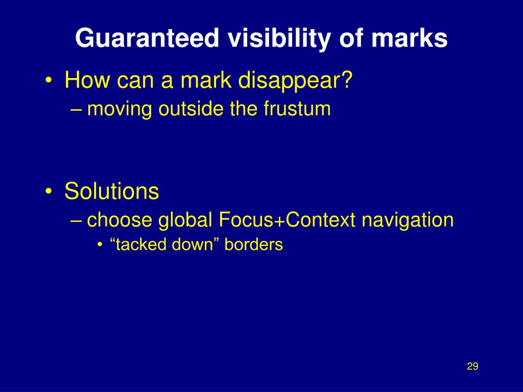 Guaranteed visibility of marks