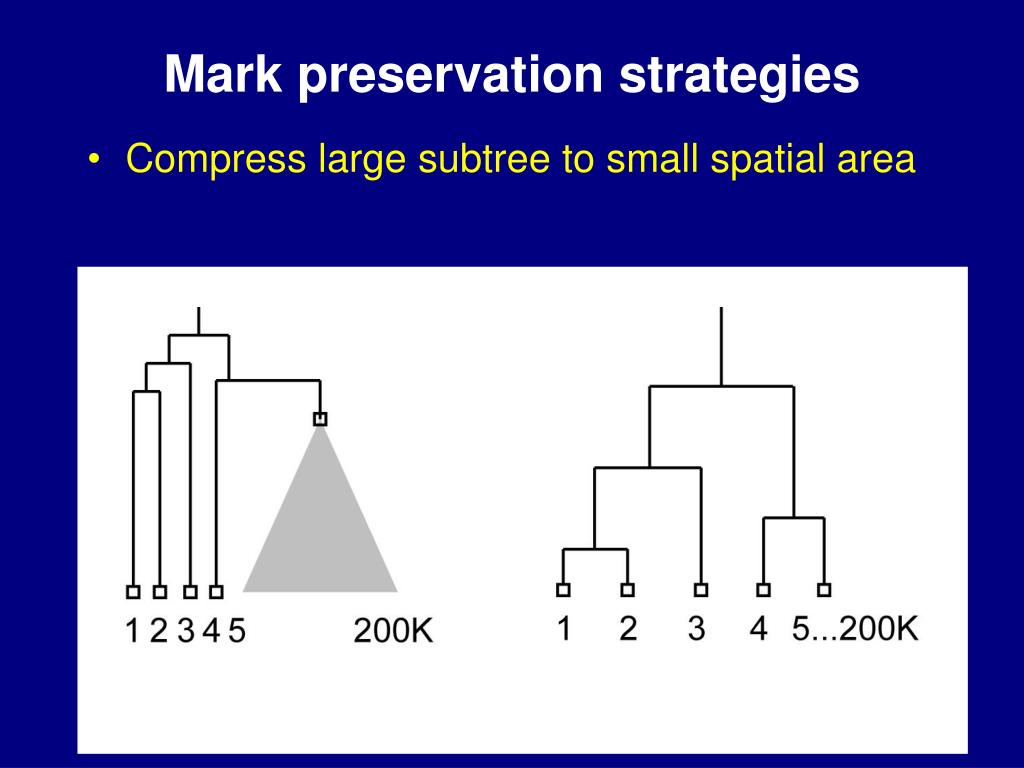 Mark preservation strategies