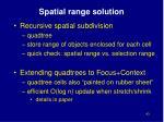 spatial range solution