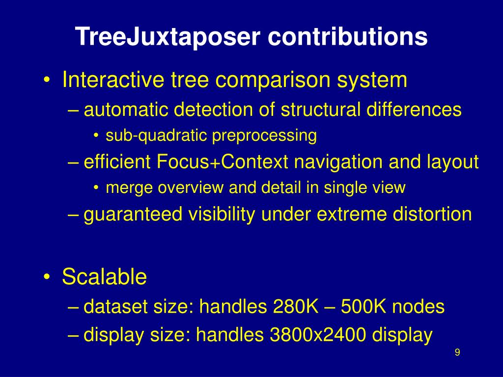 TreeJuxtaposer contributions