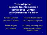 treejuxtaposer scalable tree comparison using focus context with guaranteed visibility